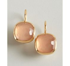 Pomellato gold and rose quartz Cipria earrings