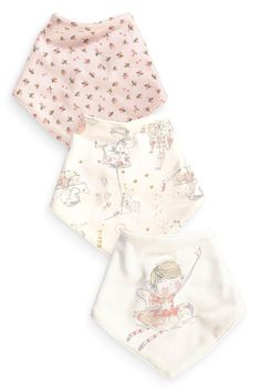 Buy Three Pack Fairy Print Dribble Bibs (0-18mths) from the Next UK online shop