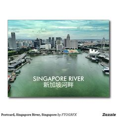 Postcard, Singapore River, Singapore Postcard