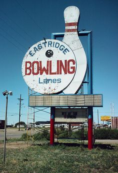 Retro bowling sign from Amarillo, TX