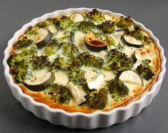 Przepis na tarte z brokułami i cukinią to świetny pomysł na danie obiadowe. Tarta ta pięknie się prezentuje przez wykorzystaniu dwóch zielonych warzyw