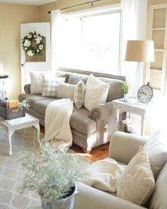 70 Inspiring Rustic Farmhouse Style Living Room Design Ideas  #farmhousestyle #livingroomdesigns #livingroomdesignideas