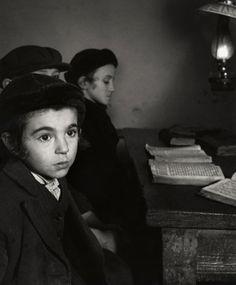 Roman Vishniac - David Eckstein, Seven Years Old and Other Jewish School Boys, Brod, Poland c.1938