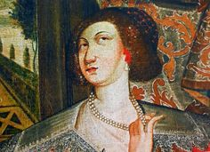 Detail of portrait of Katarzyna Ligęza née Kretkowska by Anonymous from Poland, ca. 1654, Church of the Discalced Carmelites in Lublin. Katarzyna Ligęza, daughter of Łukasz Kretkowski and Barbara Drzewicka, is presented just at a time when she take a difficult decision. After the death of her husband in 1624 she entered the monastery of the Discalced Carmelite nuns in Kraków. #detail #portrait #ligeza #kretkowska #poland #lublin #monastery #baroque #red #pearls #artinpl #drapery #garden Great Names, Krakow, Drapery, Anonymous, Baroque, Poland, Mona Lisa, Death, Daughter