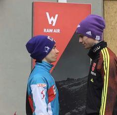 Andreas Wellinger und Stefan Kraft Stefan Kraft, Ski Jumping, Skiing, Sky, Jumpers, Dream Big, Celebrities, Athletes, Sports