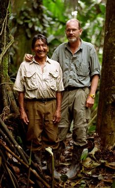 """Mincayany (left) and Steve Saint from the Documentary """"The End of The Spear"""" A 2006 docudrama film that recounts the story of Operation Auca, in which five American Christian missionaries attempted to evangelize the Huaorani (Waodani) people of the jungle of Ecuador. Based on actual events from 1956 in which five male missionaries were speared by members of the Waodani tribe."""