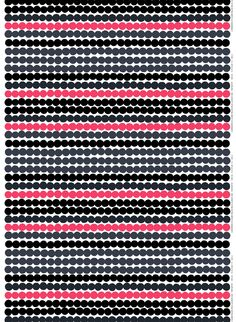 Marimekko's Räsymatto fabric is made of thick cotton and features Maija Louekari's lovely pattern in black, yellow and grey. Räsymatto, Finnish for rag rug, depicts the texture of traditional rag rugs in a delightful manner. Marimekko Wallpaper, Marimekko Fabric, Design Textile, Fabric Design, Pattern Design, Fabric Patterns, Print Patterns, Geometric Patterns, Scandinavian Fabric