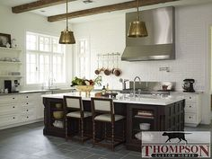 black windows would make this kitchen