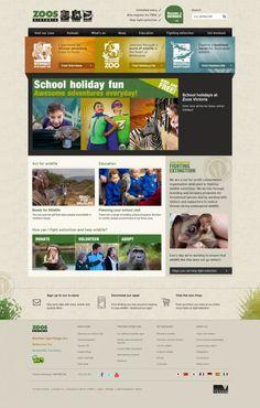 Zoos Victoria - worlds leading zoo-based conservation organisation - #Webdesign #inspiration www.niceoneilike.com
