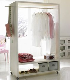 Great idea for airing and storing the clothes you wore today.