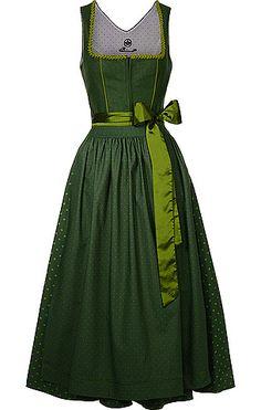 Grünes Dirndl Drindl Dress, Mod Dress, Modest Fashion, Fashion Outfits, Folk Fashion, Japanese Street Fashion, Traditional Outfits, Green Dress, Models