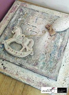 Fb: evarte χειροποιητες δημιουργιες Vintage Canvas, Art Work, Decoupage, Objects, Clay, Decoration, Home Decor, Artwork, Clays
