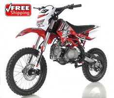 The all new Apollo X19 125cc Dirt Bike features a new and improved design and styling over Apollo's previous model dirt bikes. This awesome new 125cc dirt bike includes a headlight, high performance suspension and a 4 speed manual transmission. Save big on the Apollo X19 full size dirt bike now and also get Free Shipping. PowerDirtBikes.com Cheap Dirt Bikes, ATVs, Four Wheelers, Go Karts, Gas Scooters and more