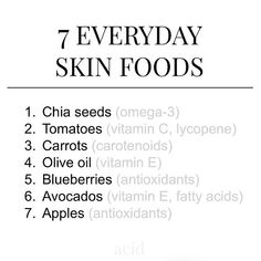 Keep in mind that sunscreen is the most effective long term solution to prevent collagen degradation and signs of skin aging 😊 Facials,… Foods For Clear Skin, Clear Skin Diet, Foods For Healthy Skin, Tips For Clear Skin, Healthy Food, Healthy Recipes, Skin Secrets, Skin Tips, Skin Care Tips