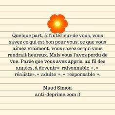 """Fais ce qu'il te plait !  Maud Simon est l'auteure du livre """"Fais ce qu'il te plait"""".    Dans ce livre, elle présente un programme en 12 semaines permettant de faire coïncider nos passions, notre style de vie et nos goûts avec nos..."""