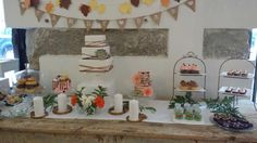 """Acaramelada sweet table at the Wedding Passion event: """"Bridal Open Day"""" in Acaramelada shop."""