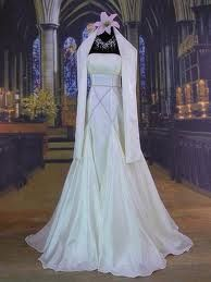 White medieval gown
