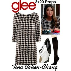 Tina Cohen-Chang (Glee) : 3x20 by aure26 on Polyvore featuring polyvore, fashion, style, Hue, clothing and glee