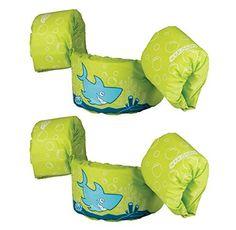 (2) COLEMAN Stearns Kids Puddle Jumper Swimming Life Jacket Vests | Green Shark, http://www.amazon.com/dp/B00RUB7KW8/ref=cm_sw_r_pi_awdm_9Ehlvb0W9KMK2