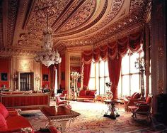 The State Apartments at Windsor Castle are lavishly decorated formal rooms still used for state and official functions.