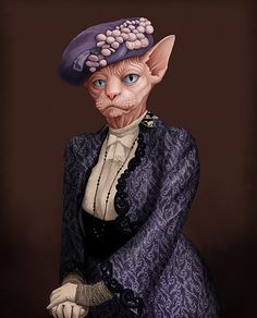 Cats and dogs as Downton Abbey characters – in pictures. Violet, the dowager countess of Grantham, as a sphynx cat