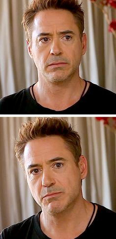 RDJ puppy-dog eyes - from the tribute video to Sir Ben Kingsley, Britannia Awards, November 10, 2013.