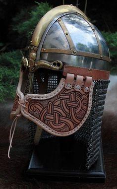 All things fantasy larp related Viking Armor, Viking Helmet, Arm Armor, Medieval Armor, Medieval Fantasy, Viking Hood, Viking Clothing, Viking Jewelry, Warrior Helmet