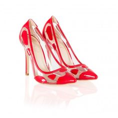 Pantofi dama rosii cu toc inalt de 11 cm Papin Heels, Fashion, Stilettos, Heel, Moda, Fashion Styles, Shoes Heels, Fashion Illustrations, High Heel