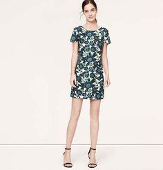 Floral V-Back Dress | Loft. hideous fabric or amazing fabric?