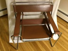 Sold****Marcel Breuer Wassily Chair No. B3 for Knoll Intnl., in Chestnut Brown