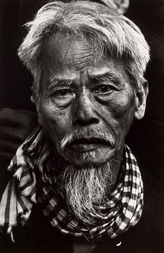 Don McCullin Old Vietnamese man, Tet Offensive, Hué, South Vietnam February 1968. I met many old fishermen who looked like this man.