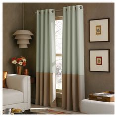 • 100% polyester construction<br>• Polyester liner<br>• Color-block pattern<br>• Machine washable for easy care<br><br>Beautifully frame your window with the Curtainworks Kendall Lined Curtain Panel. The contemporary style has a timeless look and the liner will filter the sun and heat while providing extra privacy.