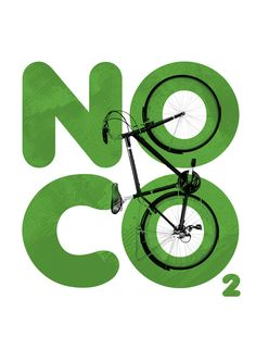 NO C02 Cycling Poster on Behance