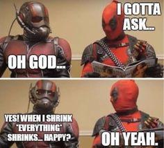 Just deadpool things #antman #deadpool #marvel #cosplayclass