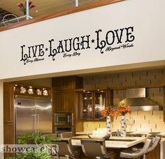 Live, Laugh, Love   Vinyl Wall Art   FREE Shipping   Fun Inspirational Wall