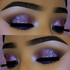 23 Glitzy New Year's Eve Makeup Ideas: #3. VIBRANT GLITTER EYE MAKEUP; #eyemakeup; #makeup