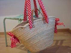 flamenco dots wicker basket by handmadeinCadaques on Etsy