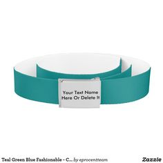Shop Teal Green Blue Fashionable - Color Custom Name On Belt created by eprocentteam. Customizable Gifts, Metal Belt, Animal Skulls, Teal Green, Belt Buckles, Personalized Gifts, Halloween, Color, Fashion