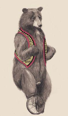 Sad Unicycle Bear
