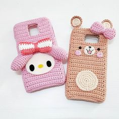 for samsung note 4&5 #myorder#casephone #case #crochetcase #mymelodycrochet #mymelody #bear #accessories