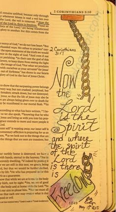 Easy Bible Art Journaling Journey: 2 Corinthians 3:17 (May 13th)