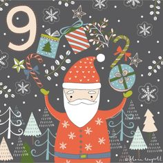 I feel a bit like this Santa this week, juggling and balancing projects and deadlines so I'm playing a bit of catch up on my advent! I hope you all had a fab day 9 xx