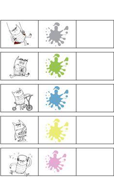 Logisch denken: Thema Het kleurenmonster – Sorteren op kleur Emotion, Playing Cards, School, Teaching, Education, Ps, Creative, Stage, Album