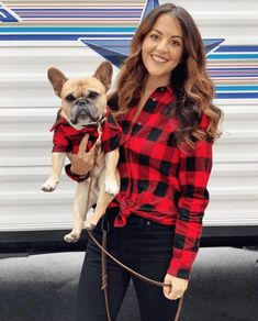 Matching plaid flannel shirts for dogs, men, women and kids. Unique gifts for animal lovers and dog parents. Shop our selection of matching flannel shirts for the entire family this holiday season — and beyond! Family Picture Outfits, Matching Family Outfits, Plaid Flannel, Plaid Shirts, Flannels, Red Plaid, Red Checkered Shirt, Summer Family Pictures, Family Photos