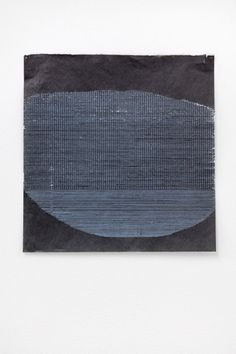 Image No. 2 of  Helen Mirra, Allyson Strafella Allyson Strafella, Area, 2011, typed marks on pigmented gampi, 25.3 x 24.9 cm
