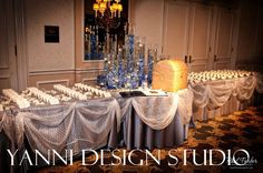 Yanni Design Studio - Celebrity Wedding Flowers and Decorations Chicago - Gallery - Expensive Place Card Table Drake Hotel, Custom Gift Boxes, Wedding Designs, Wedding Ideas, Floral Centerpieces, Reception Decorations, Celebrity Weddings, Luxury Wedding, Orchids