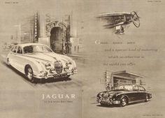 cars A Brief History of the Jaguar Mark II - The British Bank Robbers Favourite Getaway Car New Jaguar, Jaguar Cars, Vintage Advertising Signs, Car Advertising, Ads, Jaguar Daimler, Bank Robber, Garage Signs, New Engine