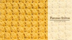 Easy instructions on how to crochet the Popcorn Stitch! BLOG http://www.hopefulhoney.com/ YARN USED IN VIDEO…
