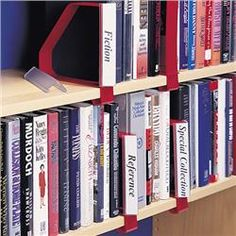 Gressco Clip-On Bookend/Label Holder with Plain Base