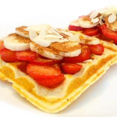 Fitness kefírové vafle - zdravý recept Bajola Healthy Breafast, Buckwheat, Kefir, Fitness, Crepes, Pancakes, Oatmeal, Recipies, Yummy Food